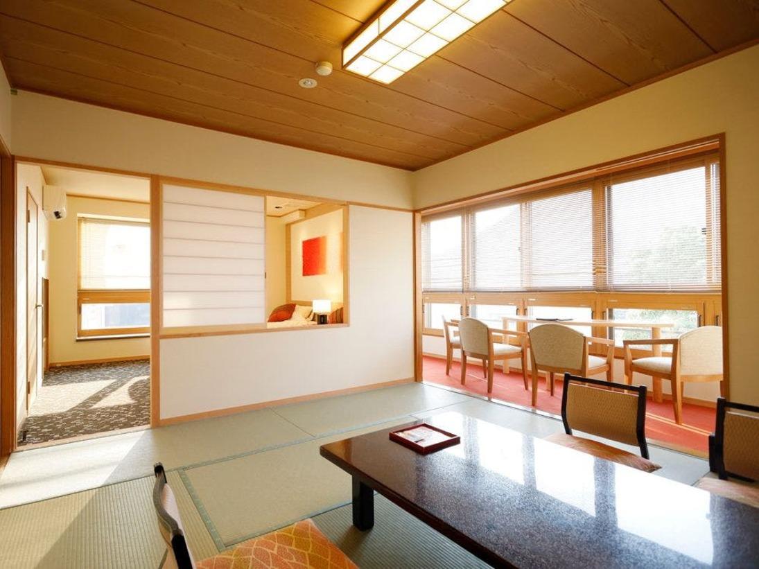 【四季亭特別室】ベッドルーム+和室<禁煙> リニューアル客室※一例
