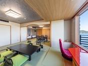南館デラックス和洋室(一例)禁煙室※お部屋により間取りや景観が異なります。