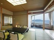 【嬉春亭SP】スーペリアスイートルーム(11-15階/103平米)高層階からの眺望は格別。