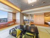南館露天風呂付和洋室(一例)禁煙室※お部屋により間取りや景観が異なります。