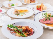 <上高地フレンチ・特選ディナー>料理長が厳選した贅沢な食材を使用して、スタンダードコースをグレードアップ。