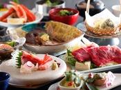 ~蟹&国産牛しゃぶ会席~ 冬の食材『カニ』に、国産牛のしゃぶしゃぶでお肉も海鮮も味わえます♪