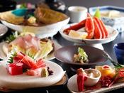 ~蟹&ブリしゃぶ会席~ 石川県の食材で代表格『寒ブリ』と焼きガニや名物アラ炊きもご堪能いただける満足会席
