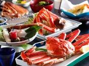 ~新『かにフルコース』会席~ずわい蟹姿茹で、焼き蟹、かに鍋、かに天麩羅などのかに尽くしコース
