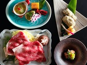 ~加賀の四季会席~ 加賀の四季の移ろいを楽しむ、吉田屋山王閣の定番会席、四季替わりにてご提供いたします。