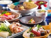 ~お肉尽くし会席~ 能登豚のステーキや人気のB級グルメとり野菜味噌鍋などの地元のお肉を味わうお料理です。