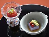 【和食会席後のデザート(イメージ)】和食会席最後は、ほのかに甘いさっぱりとしたデザートをご用意。
