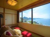 【最上階客室「天空」】ゆっくりと海を眺めて、都会の謙遜を忘れて。