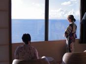 【最上階客室「天空」】時を刻むごとに表情を変える日本海を眺めると癒されます!