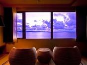 【最上階客室「天空」】から一望する日本海…日々刻々と変わる絶景を愉しんで!