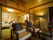 【最上階客室「天海」】開放感や眺望は最高で、贅沢な気分を満喫できます。