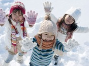【冬・施設内】敷地内では思う存分雪遊びをお楽しみいただけます♪