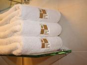 【客室アメニティ】今治で作られた安心の日本製のタオルです。