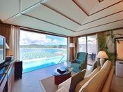 ラグジュアリースイート全室に日本最大級のプライベートプール付き