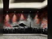 【エレベーターホール】実力派アーティスト柏原晋平作の迫力あるウォールアートを展示 東京の四季を演出