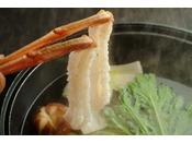 冬の定番カニすき鍋でしゃぶしゃぶを愉しむ♪