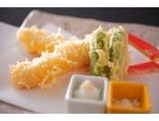 蟹の天婦羅は別注料理としても人気です!