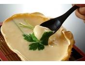 甲羅でした茶碗蒸しはトロトロの食感です♪