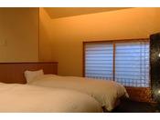 ~松風庵 松籟の間(101号室)~ ねむりの間。安らかな眠りを追求した寝具や空間でおやすみを…。