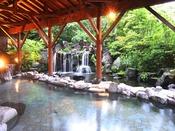 露天風呂◆那須有数の広さを誇る温泉露天風呂12:00~25:00/4:30~10:00
