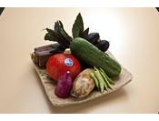 旬の地元野菜を会席に使用しております
