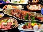 【夕食】お食事処 金目鯛 季節の一例