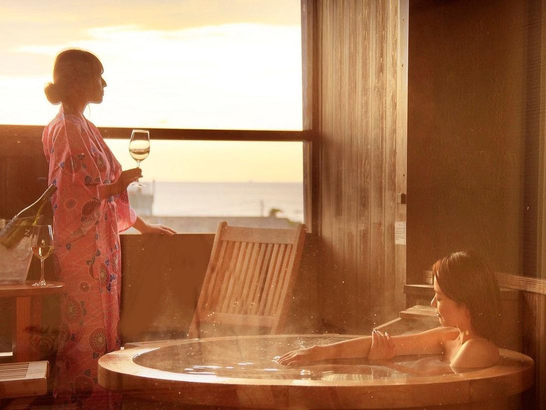 【温泉露天】日本一の夕日を堪能できる