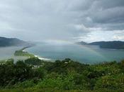 天橋立と虹