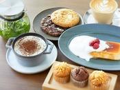 【BUNDOZA CAFE & BAR】各種ドリンク、マフィン3種、自家製プリン、クッキー ※イメージ