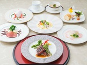 上高地フレンチ~フレンチ・ジャポネ~今、世界中で人気の和食。和のアレンジを凝らして作った和風創作フランス料理です。写真は2017年春のイメージ。