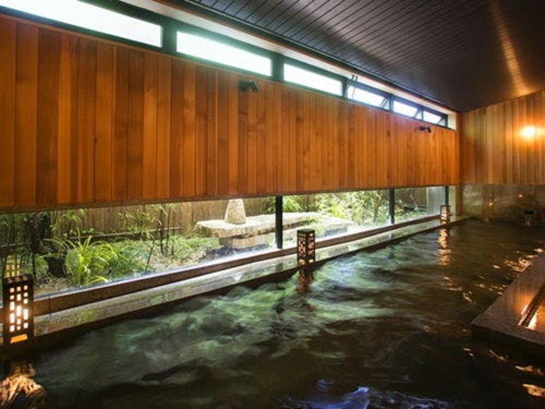 ■温泉■花兆庵1F坪庭を楽しむ「石橋(しゃっきょう)の湯」(男性浴場)