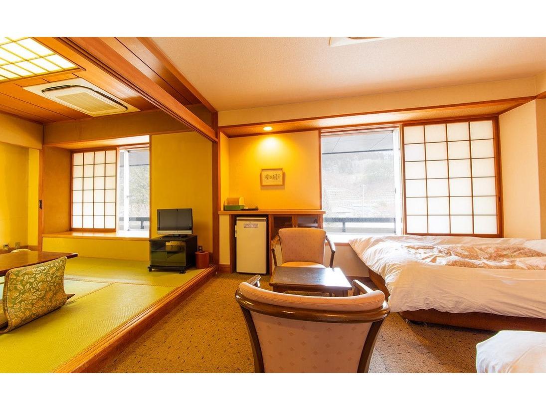 和室8畳とツインの和洋室タイプ