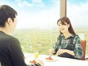 【那須のフランス料理 メリメランジュ】≪朝食≫地上50mの絶景ロケーションで贅沢な朝のひととき(メインタワー最上階13F)