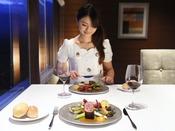 【那須のフランス料理 メリメランジュ】那須フレンチのコースディナーで贅沢なひととき(メインタワー最上階13F)