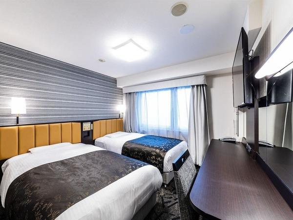 ツインルームベッド幅110cm 広さ12平米