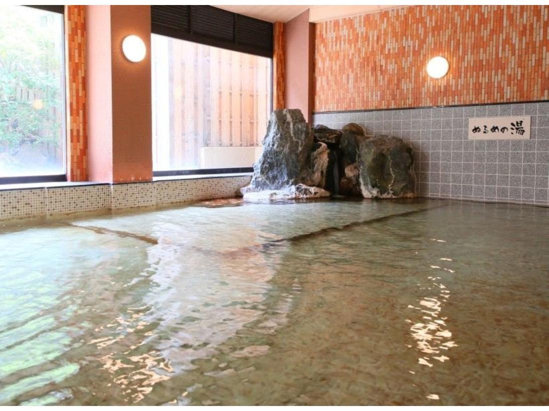 大浴場にはあつ湯とぬる湯があります