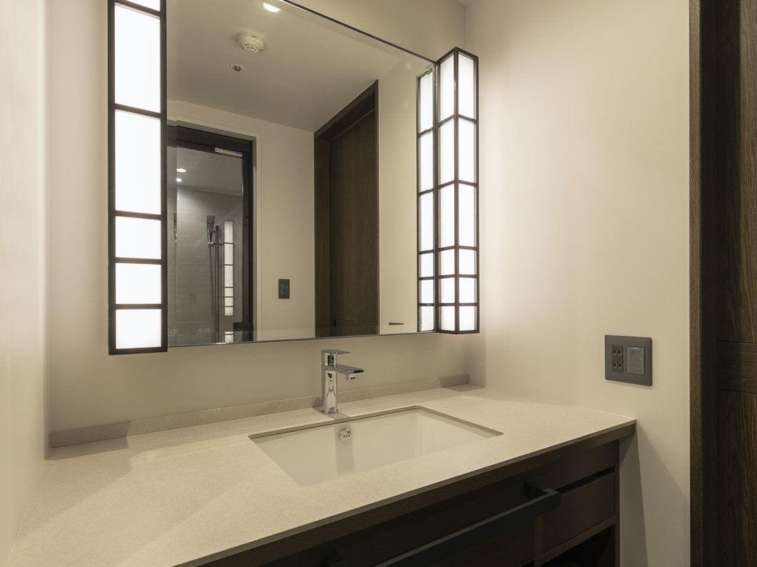 *【洗面台(イメージ)】旅行に便利な広々とした洗面台