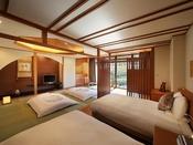 Japaneseスイート和洋室【桜】ベッドルーム