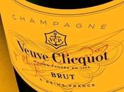シャンパン<Veuve Clicquot>フルサイズ1本付き