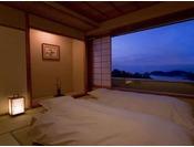 【特別フロア「和邸」】14~16階の特別フロア。全室オーシャンビューです。(客室一例)