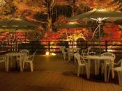 バーから見える紅葉。一杯傾けながら秋の景色を愉しむ…<10月中旬~11月上旬が紅葉の見頃♪>