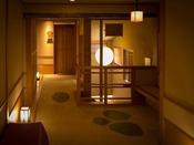 落ち着いた雰囲気。「和」を感じる廊下