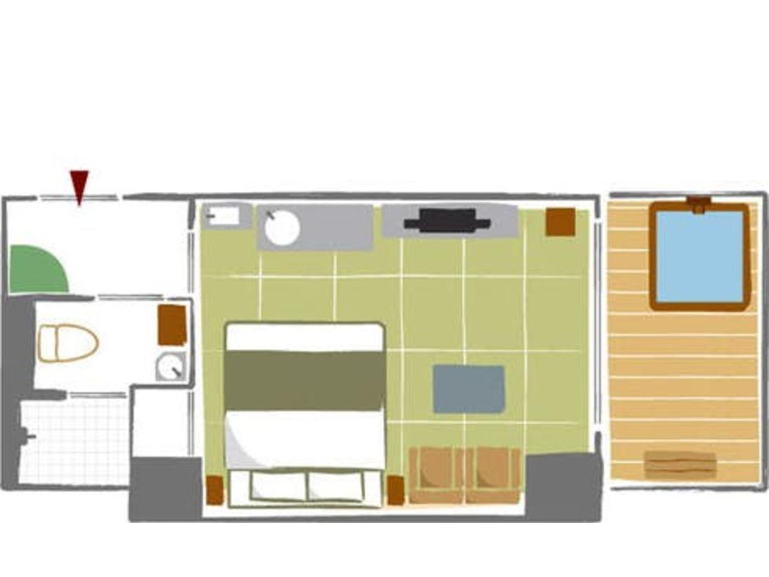 畳のお部屋に、クイーンサイズの和ベッドを配置