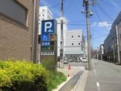 ホテル駐車場入口です。
