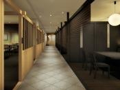 新お食事処『和味(なごみ)』。個室風の落ち着いた空間でごゆっくりお食事をお楽しみ下さい。