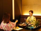 ~半個室食事処『NAGOMI』~ 和会席の始まりはまずは乾杯からですよね。