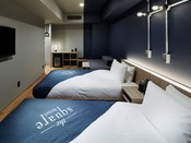 ◆プレミアツイン◆26平米【ベッド幅110cm×2、ソファベッド100cm×1】 全室エアウィーヴ設置