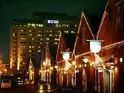 【周辺】金森倉庫群のライトアップ(ホテルから徒歩約1分)