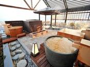 【露天風呂】三種類の一人風呂。自分だけのスペースでゆっくりと。