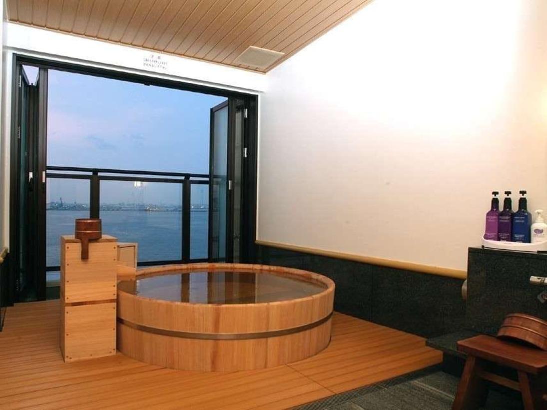 【特別室】湯河原温泉が溢れる、オーシャンビューの桧風呂付きのお部屋